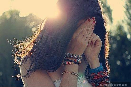 Sad, Alone, Girl, Crying, Face, On, Hand, Sunset, Bracelets-9346