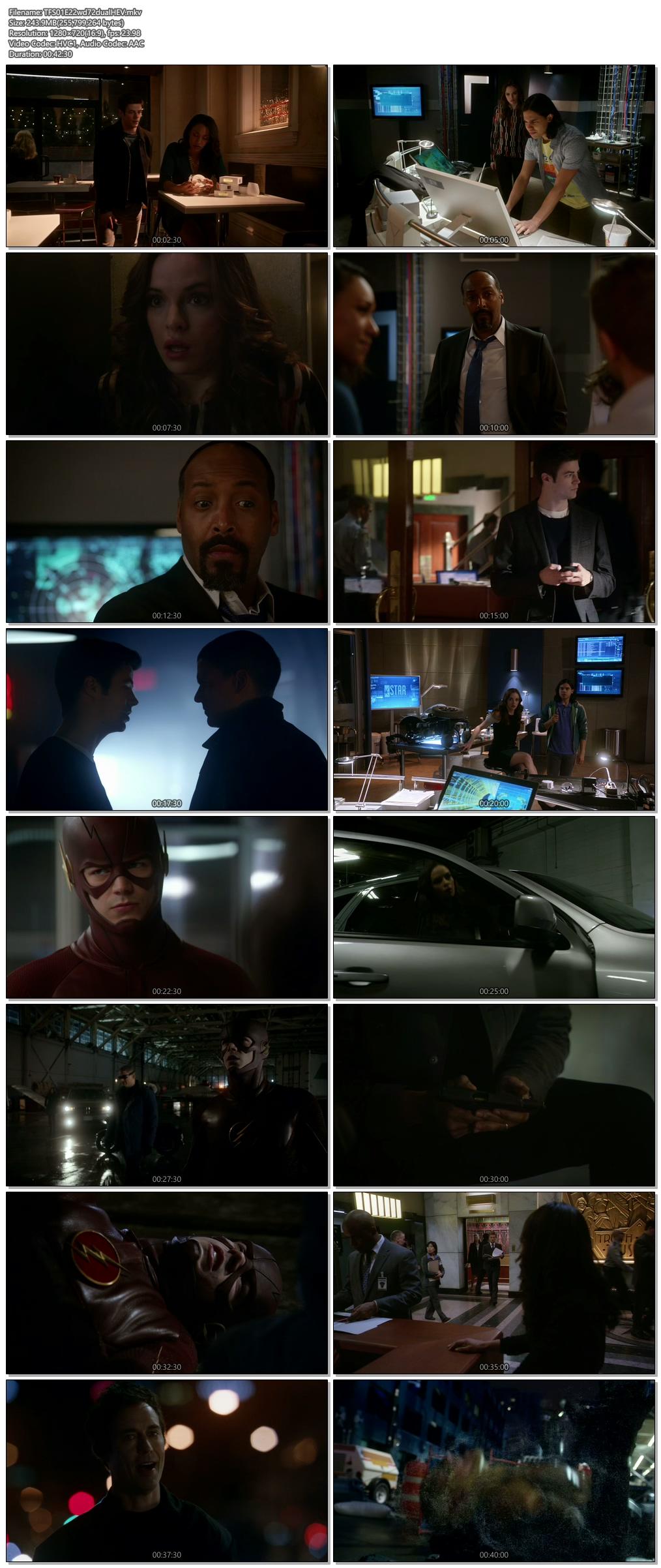 Screenshots Of Hindi Dubbed Show The Flash 2015 Season 01 Episode 22 300MB 720P HD