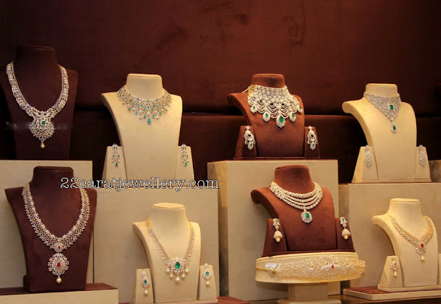 Latest Diamond Sets by Musaddilal Jewellers