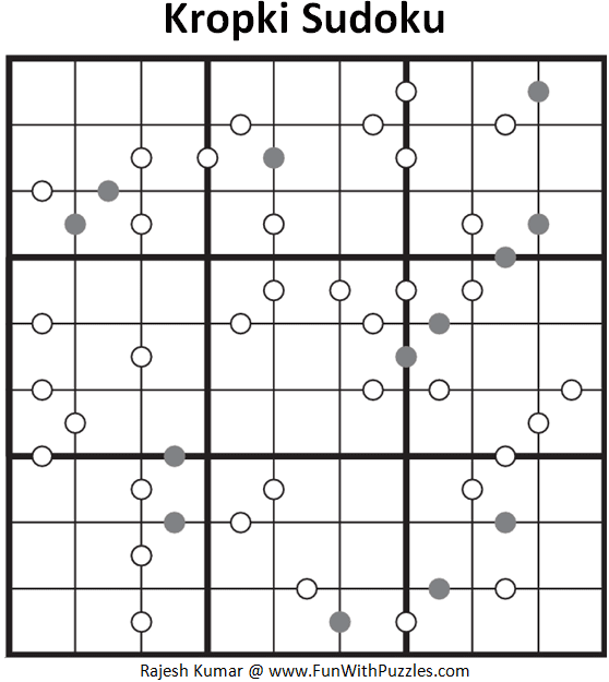 Kropki Sudoku Puzzle (Fun with Sudoku #290)