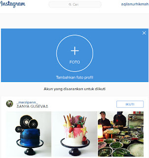 Cara daftar instagram via komputer PC atau laptop