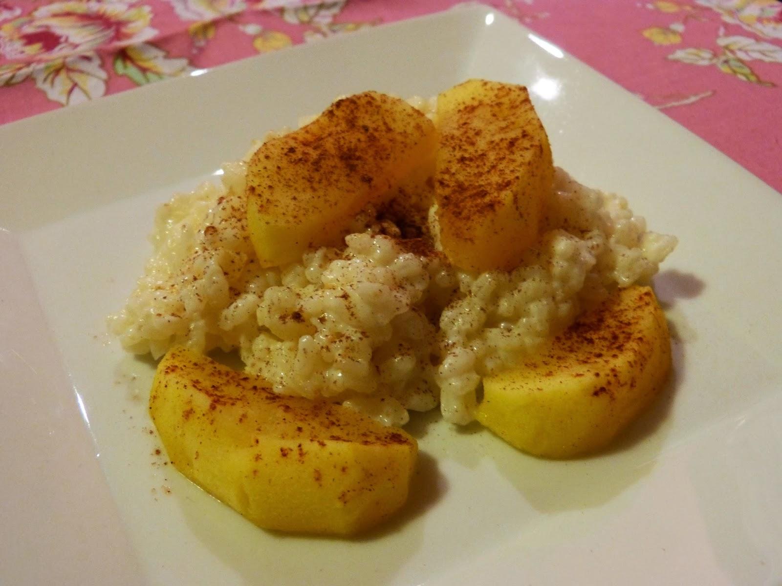 Rezept Milchreis mit warmen Zimtäpfeln