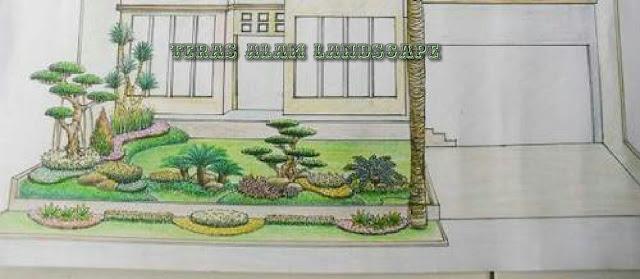 desain taman tangerang