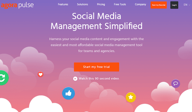 Agora Pulse social media management tool
