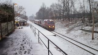 Franklin Dean Station in light snow