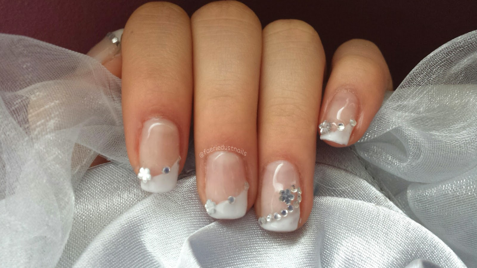 FaerieDust Nails: Prom Nails: Diagonal French Design