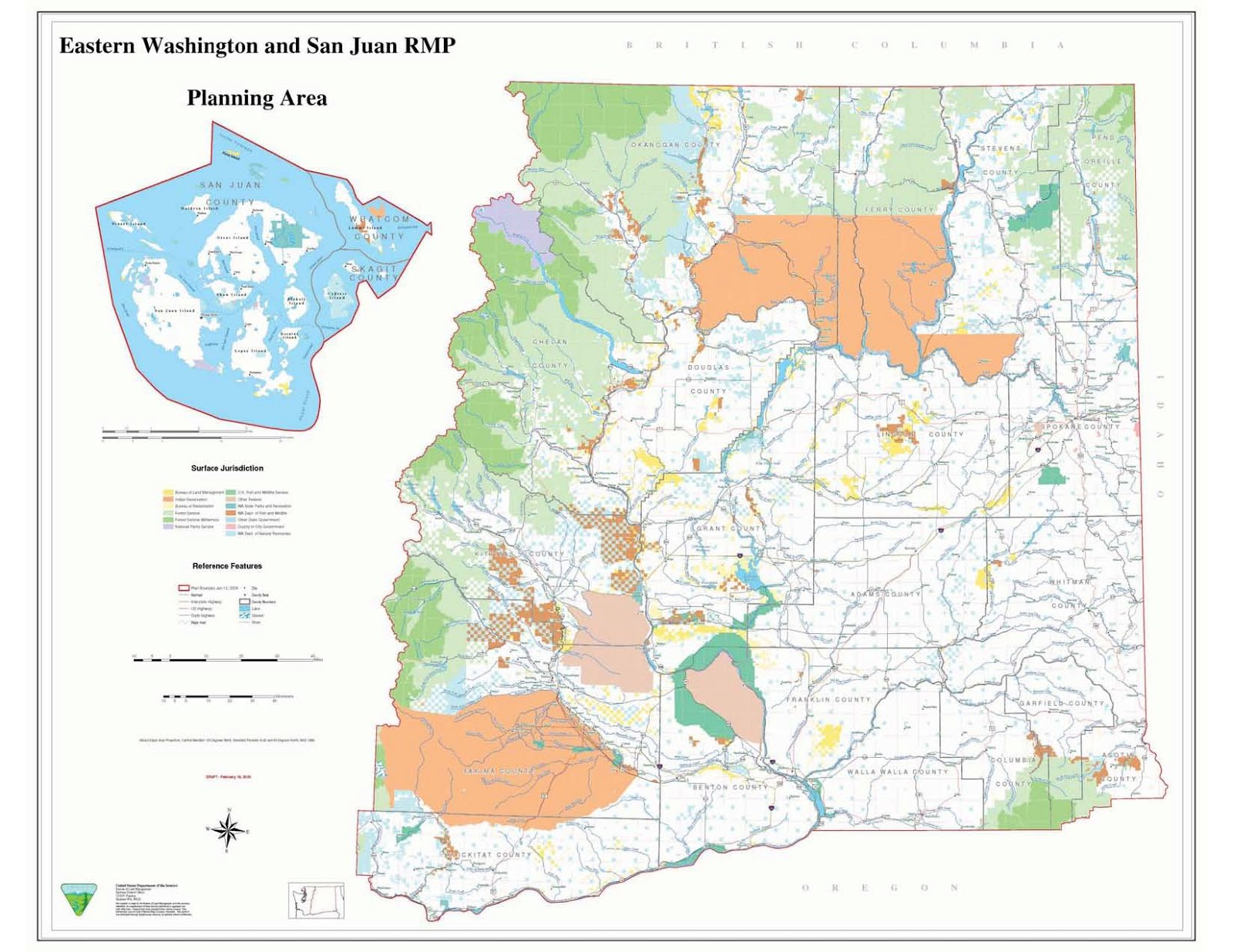 Reading The Washington Landscape Washington Vs Oregon And BLM Lands - Map eastern washington