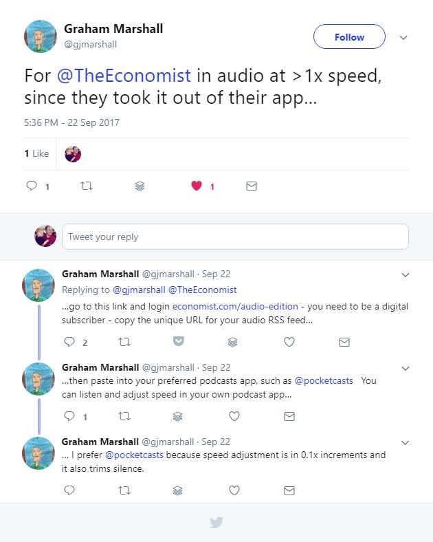 how long is the economist audio edition