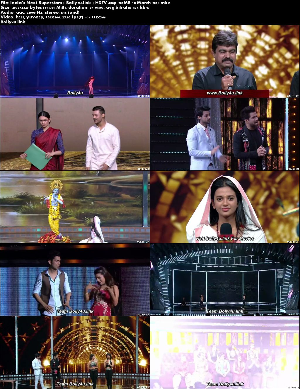 Indias Next Superstars HDTV 480p 200MB 18 March 2018 Download
