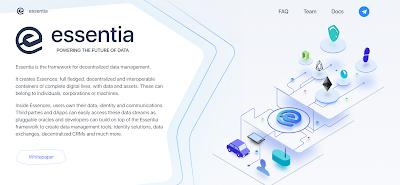 Essentia مشروع  إطار لإدارة البيانات اللامركزية.