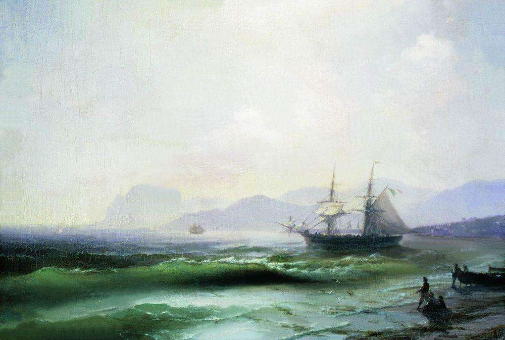 04-Restless-Sea-1877-Ivan-K-Aivazovsky-Иван-К-Айвазовский-Paintings-of-the-Sea-from-1840-to-1900-www-designstack-co