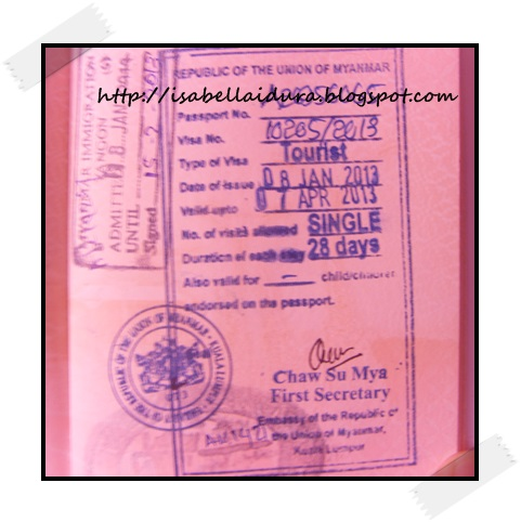 Visa, Yangon Visa, Myanmar Visa