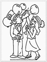 new year's day printable coloring pages kids