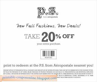 Free Printable Aeropostale Coupons