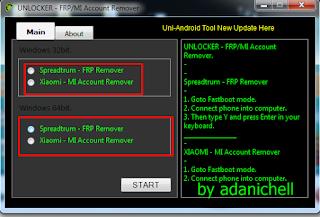 UNLOCKER FRPMI Account Remover