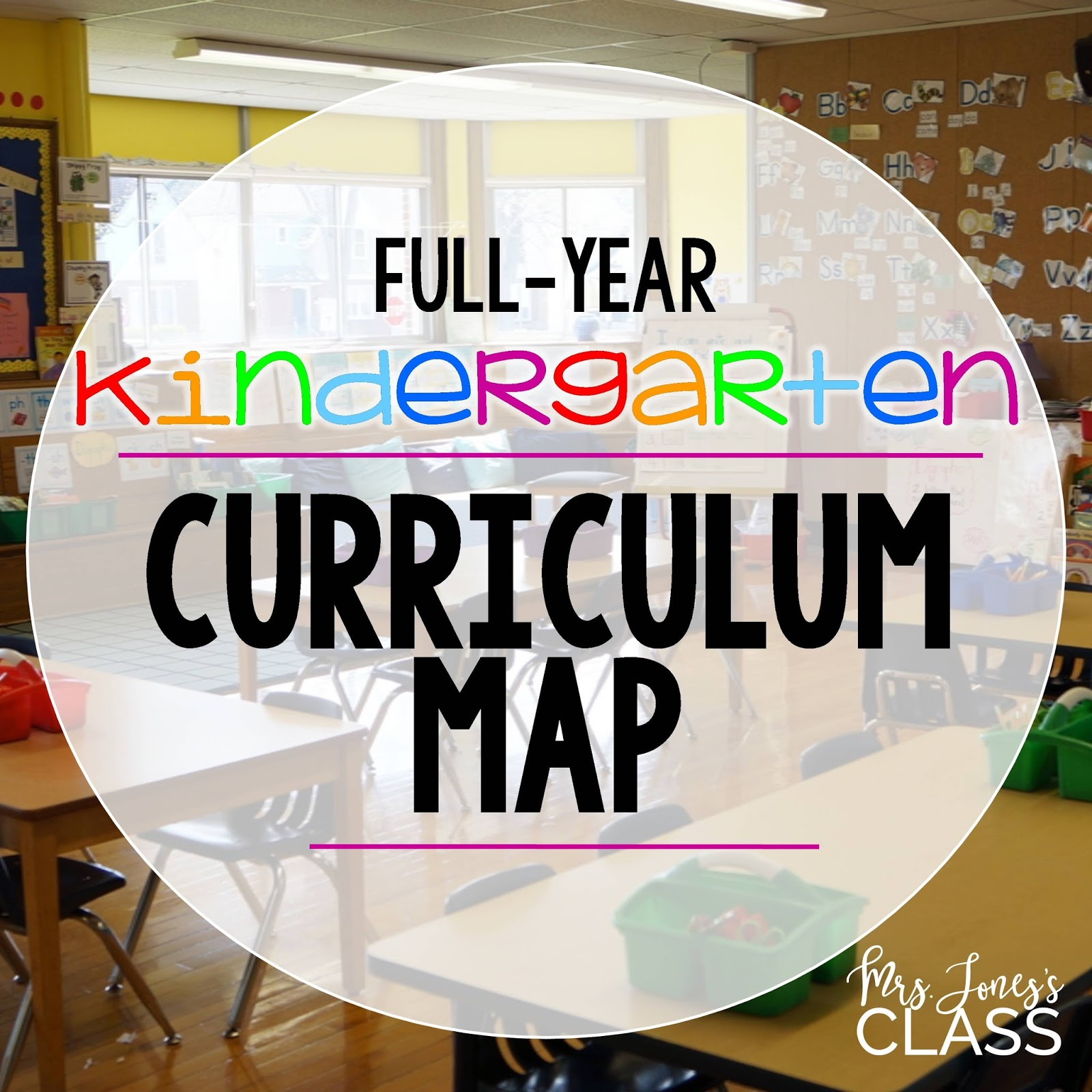 Full-Year Kindergarten Curriculum Map - Mrs. Jones\'s Kindergarten