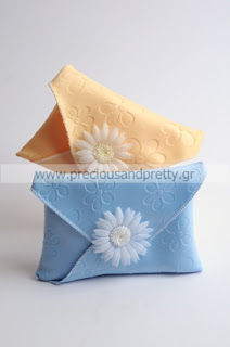 greek christening favors girl envelopes daisy