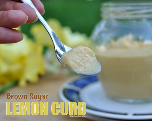 Brown Sugar Lemon Curd ♥ KitchenParade.com, my family's unusual recipe for lemon curd, made with brown sugar. Two versions, one less sweet and less rich.