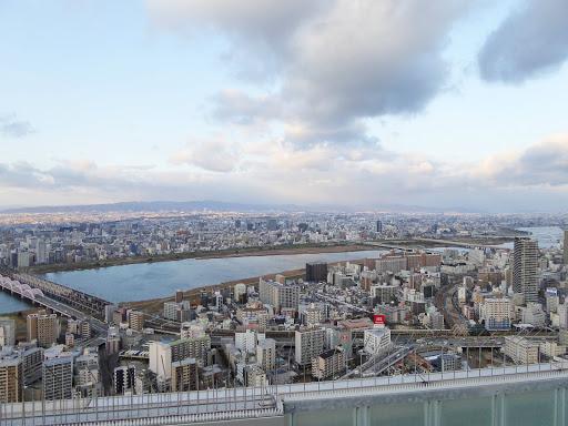 梅田スカイビル 空中庭園展望台からの眺め