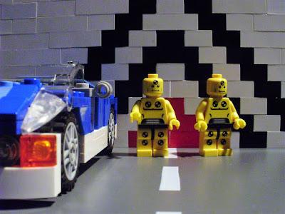 MOC LEGO Dummies Car crash test