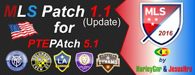 PES 2016 MLS Patch V1.1 (Update) for PTEPatch 5.1 by HarleyGnr & JesusHrs