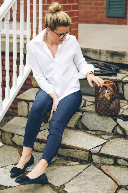 prada bow pointy toe flats and Louis Vuitton speedy 30