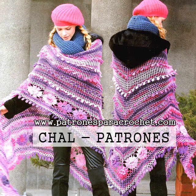 Gráficos de shawl para tejer al crochet