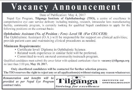 Ophthalmic Assistant Nepal Eye Program Saguns Blog – Ophthalmologist Assistant