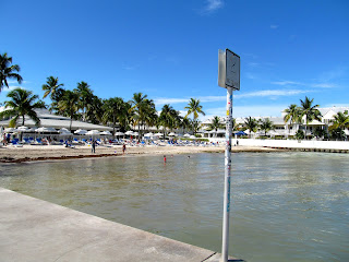 the beach at the Southernmost hotel in key west florida