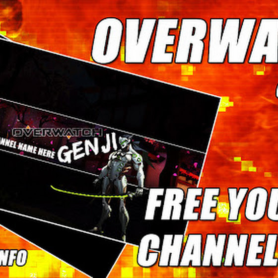 Overwatch Genji ★ Free YouTube Channel Art / Channel Cover
