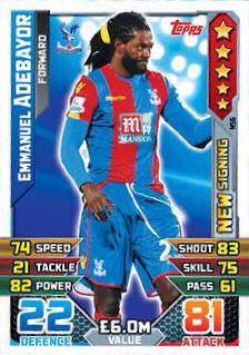 Match Attax 2015//16 Extra-Emmanuel Emenike West Ham United New signature-NS28