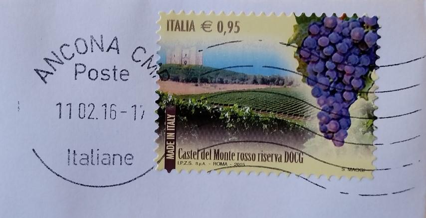 francobollo Castel del Monte rosso riserva DOCG