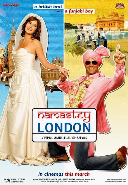 Poster Of Namastey London 2007 720p Hindi BRRip Full Movie Download