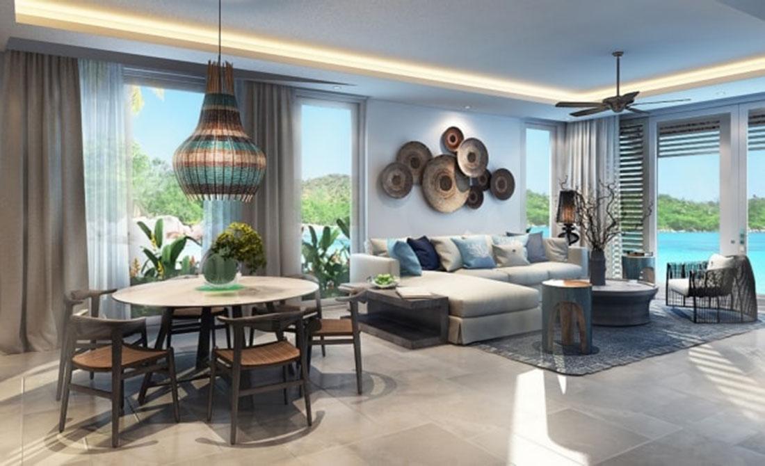 Phòng khách tại biệt thự Premier Village Ha Long