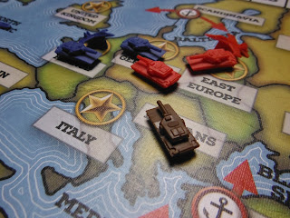 Starting positions for Europe in the Cold War board game