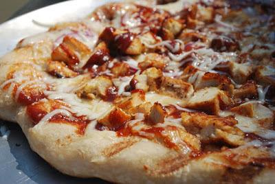 بيتزا الدجاج المشوى