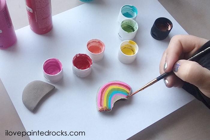 St Patricks Day rock painting idea