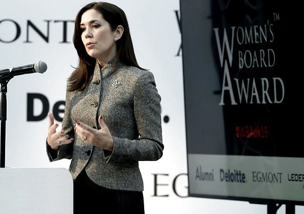 Crown Princess Mary wore Giorgio Armani Asymmetrical Wool Cashmere Jacket
