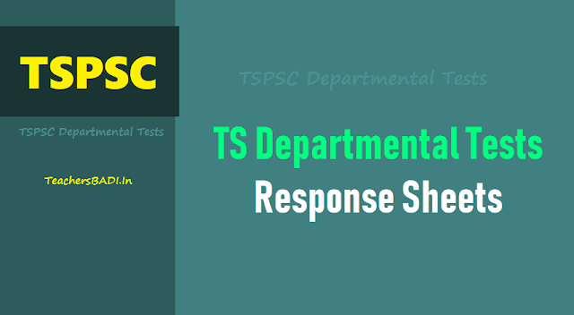 TSPSC Departmental Tests Response Sheets, Results