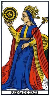 Tarot Marsella: Reina de Oros