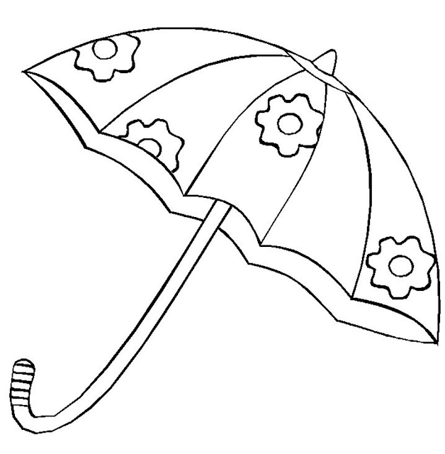 Gambar Mewarnai Payung - 5