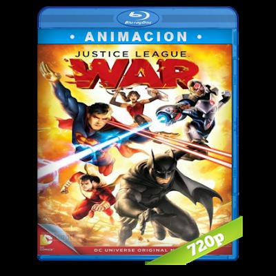La Liga De La Justicia Guerra (2014) BRRip 720p Audio Dual Latino-Ingles 5.1