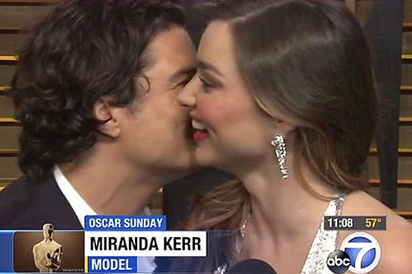 Miranda Kerr Orlando Bloom faced