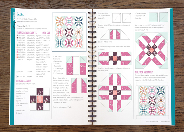 Fat Quarter Shop 39 S Jolly Jabber The Quilter 39 S Day Planner