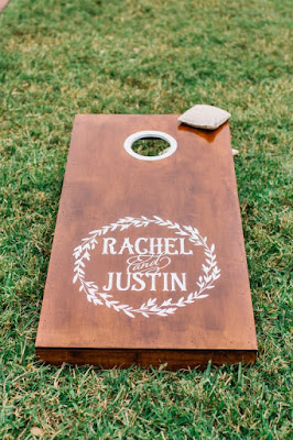 corn hole game reception