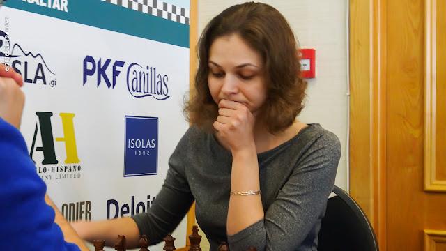 Anna Muzychuk en el Tradewise Gibraltar Masters (Foto: John Saunders)