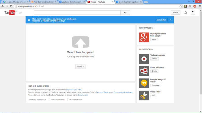 Cara Upload Video ke Youtube 3
