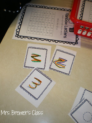 Rainbow Writing Letters Kindergarten literacy center