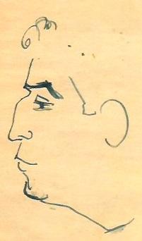 Caricatura de Francino de autor desconocido