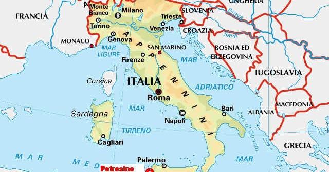 Croazia E Slovenia Cartina Geografica.Cartina Geografica Italia Slovenia Croazia